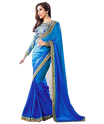Winza Women's Chiffon Saree (Exclusive best top new latest ethnic desi bolly wedding fancy sarees for girls ladies SOFIA_multicolor_Free Size)