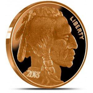 Buffalo Nickle Design Copper Round