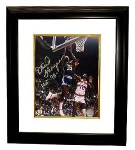 David Thompson signed Denver Nuggets NBA 8x10 Photo HOF 96 Custom Framed