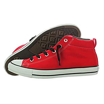 9034dff0ccb Converse All Star Chuck Taylor Street Mid 142326F Unisex Adult Fashion  Sneakers Casual Shoes Red   Black