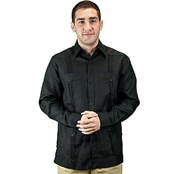 Mens mexican wedding shirt, linen guayabera shirt