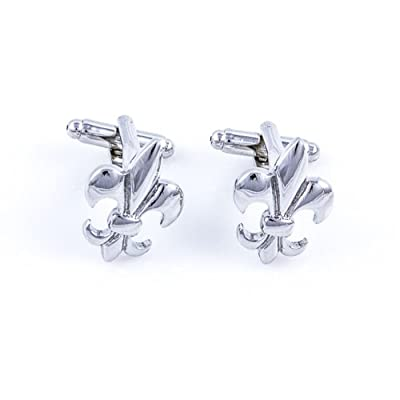 Fleur De Lis Classic Cufflinks with a Presentation Gift Box