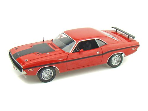 Red Dodge Challenger 1970. 1970 Dodge Challenger R/T 1/24 Red