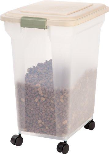 iris premium airtight pet food storage container 55quart almond from iris usa inc