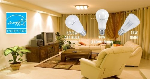 Overdrive 10W Led Wide Angle Dimmable A Shape Bulb -3000K#44; Pack Of 48