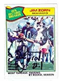 Jim Zorn autographed Football Card (Seattle Seahawks) 1977 Topps #455 at Amazon.com