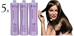 FIVE Kit Cadiveu Keratin Treatment Plastica dos Fios 100% STRAIGHT Blowout