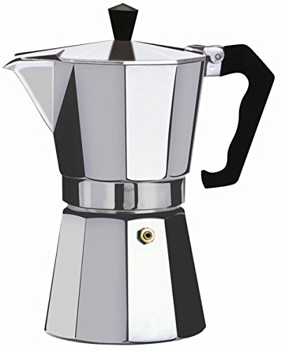 Wee's Beyond 7526-06 Brew-Fresh Aluminum Espresso Maker, 6 Cup, Silver