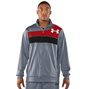 Under Armour Men's UA Bedstock Warm-Up Jacket Large Steel