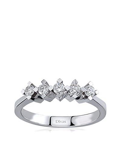 Divas Diamond Anillo plata de ley 925 milésimas 17