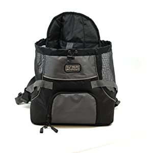 Kyjen Outward Hound Pet-a-Roo Front Carrier -medium in black/grey