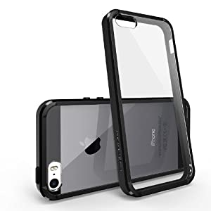 Rearth Ringke Fusion Bumper Premium Hybrid Case with Free Premium Screen Protector for Apple iPhone 5S/5 - Eco Package - Retail Packaging - Black