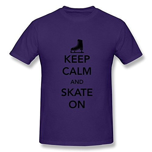 Laur Men'S Keep Calm Skate Ice T-Shirt Xl