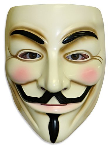 OrangeTag Guy Fawkes V for Vendetta Adult Masks, Lot of 10