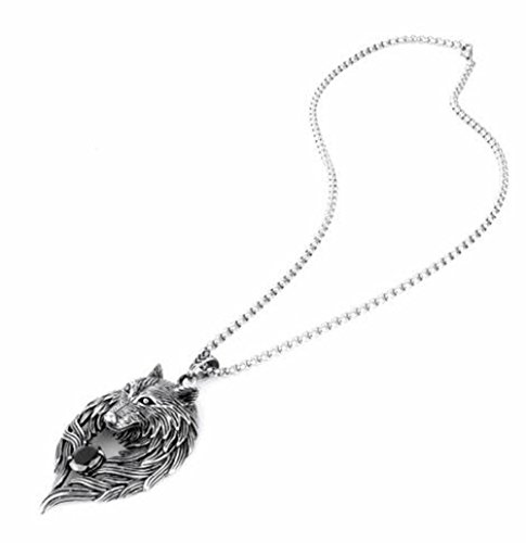 Crazystone's Wolf Totem Black Diamond Setting Necklace