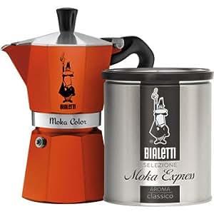 Amazon.com: Bialetti Moka Stovetop Espresso Maker & Moka Grind Coffee- Orange: Kitchen & Dining