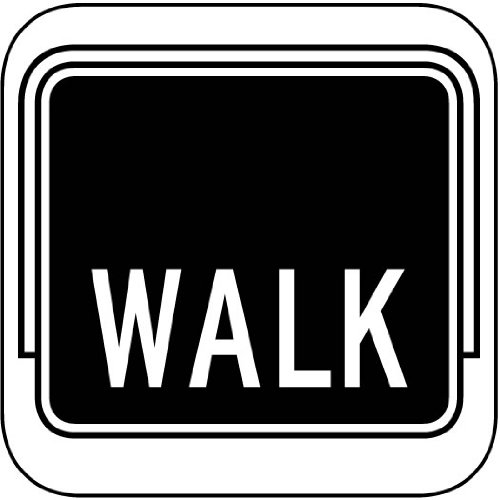 Street & Traffic Sign Wall Decals - Walk Light Sign - 12 Inch Removable Graphics (4 Same) front-918975