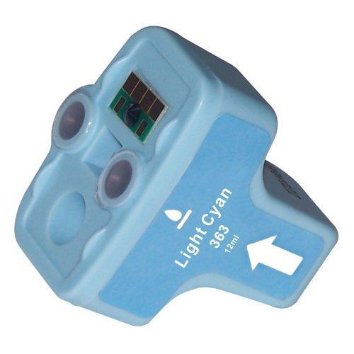 N.T.T.® - 1 x STÜCK LIGHT CYAN kompatible XL Tintenpatrone für HP 363 Serie 363LC für HP Photosmart C5190 C5194 C5150 C5160 C5170 C5173 C5175 C5183 C5185 C5188 C5190 C5194 C6150 C6160 D6160 D7145 D7155 D7160 D7163 D7168 D7180 D7183 D7260 D7280 D7300 D7345 D7355 D7360 D7363 D7368 D7460 D7463 D7468 Photosmart 3100 3110 3200 3210 3310 C5180 C6160 C6180 C7180 8200 8238 8250 Druckerpatrone