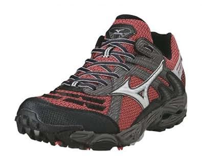 MIZUNO Wave Cabrakan 3 Chaussures de Trail pour Homme, Rouge/Noir/Argent, 48.5