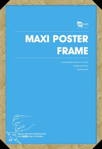 Gb eye ltd cornice per poster maxi in legno di quercia for Cornice poster 61x91