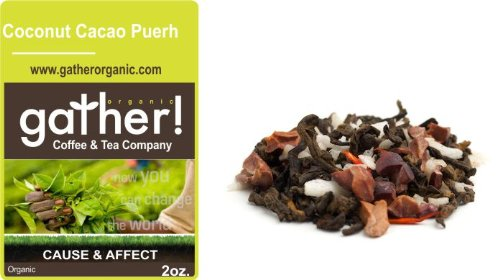 Coconut Cacao Puehr - 2Oz. Loose Leaf Tea By Gather!