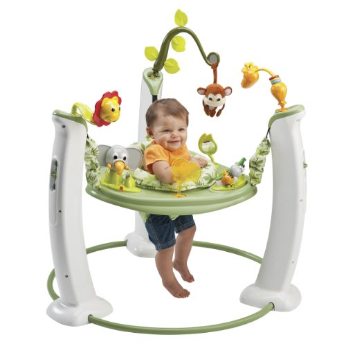 Review Evenflo Exersaucer Jump and Learn Stationary Jumper, Safari Friends