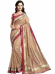Vipul Minakari Silk Saree (11441 _Beige)