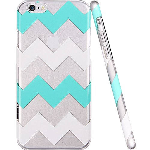 Iphone 6 Case, Esr® The Beat Series Protective Case Bumper[Scratch-Resistant] [Perfect Fit] Translucent Hard Back Cover With Mint And White Chevron Pattern [Wave Pattern] For 4.7 Inches Iphone 6 (Green Chevron)