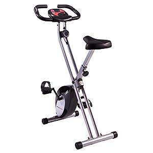 Ultrasport - Bicicleta estática plegable con 8 rodamientos de bolas de doble hilera, fácil de montar y de plegar, ahorra espacio al guardarla