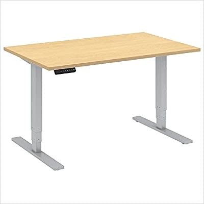 Bush BBF 48W x 30D Height Adjustable Table Kit in Natural Maple