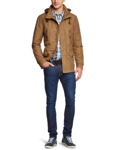Geox - Parka regular fit con collo mao, manica lunga, uomo, Marrone (Braun (CARAMELF5080)), 48 (48)- DE