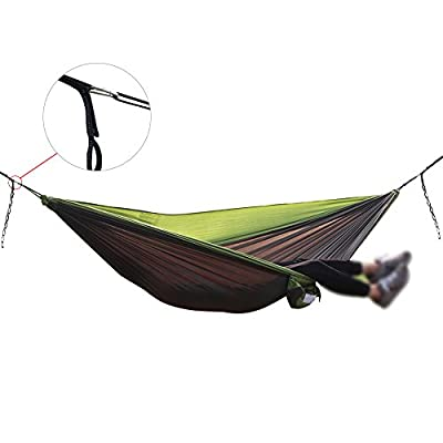 Double Size Travel Ticket to the Moon Portable Parachute Nylon Fabric Hammock with Carabiner