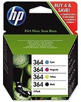 4 Cartouche d'encre pour Imprimante HP Photosmart 5510 - Cyan / Jaune / Magenta / Noir- Avec Puce