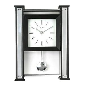 Schwarz Holz / Chrom Basis Tischuhr mit Pendel  BaumarktKundenbewertung und Beschreibung