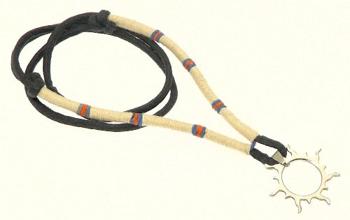 Neptune Giftware Mens Surf Surfer Black Cord & Coloured Cord Necklace With Metal Sun Pendant - 11