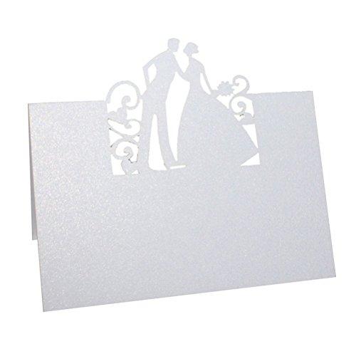 ROSENICE-50-Stck-Tischkarten-Herz-Brautpaar-Hochzeit-Dekoration-Tischdekoration-Namenskarten-Platzkarten