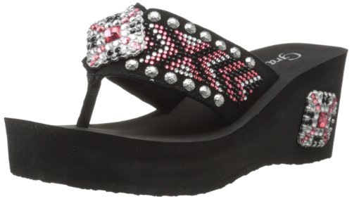 Grazie Women'S Frock Wedge Sandal,Fuchsia,11 B Us back-572366