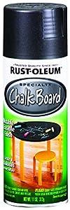 Rust-Oleum 1913830 Chalkboard Spray, Black, 11-Ounce
