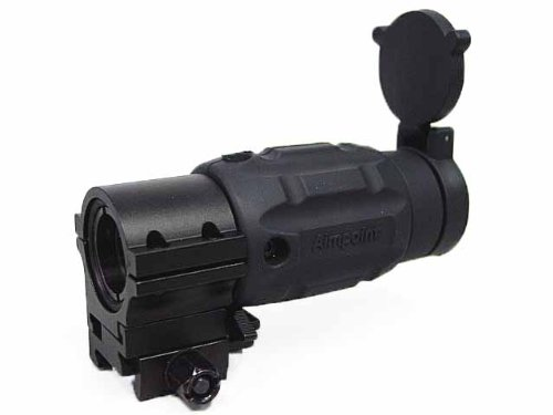 Airsoft 3X Mag Aimpoint Type Red Dot Sight Magnifier Scope W/Twist Mount