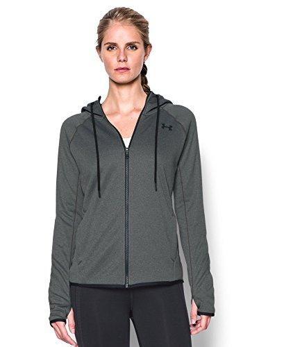 Under Armour Women's Storm Armour Fleece Lightweight Full Zip Hoodie, Carbon Heather (090), XX-Large