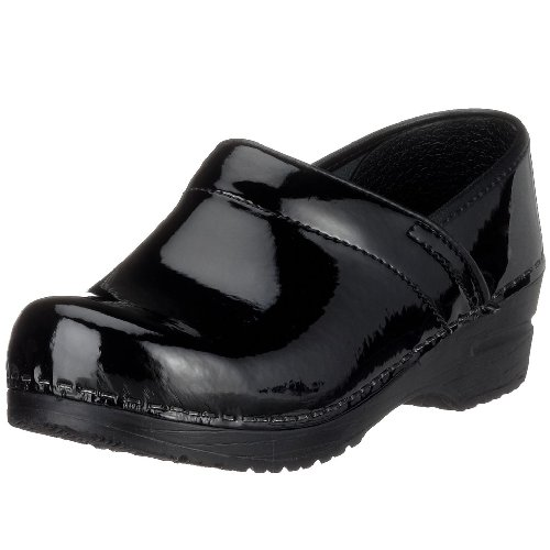 Sanita Women's Professional Patent Clog,Black,41 EU (US Women's 10.5-11 M)