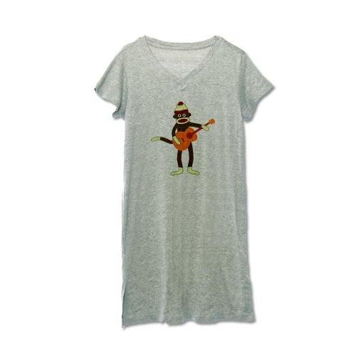 CafePress Sock Monkey Acoustic Guitar Women's Nightshirt