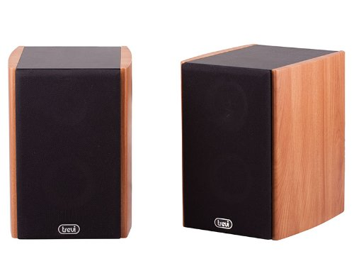 Trevi AV 540 Home Cinema 80W Bookshelf Active Speaker with Magnetic Shielding in Wood Case. Suitable for TV's, Stereos, PC's, Laptops etc