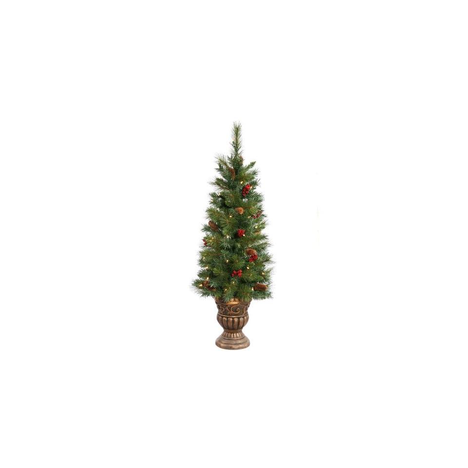 Vickerman 22458   4 Judson Mix Pine Potted 50 Clear Lights Christmas Tree (B116241)
