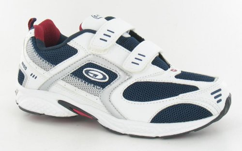 Older Boys HI-TEC R100 Velcro Lightweight Trainers Running Shoes White Size 2 3