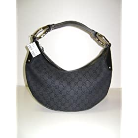 Gucci Handbags Black Half Moon Hobo 211519