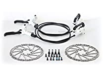 AVID Elixir 1 Hydraulic Brake Set Front & Rear White G3 160mm Rotor