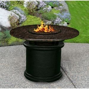 California-Outdoor-Concepts-2020-BK-FP-BM-54-Del-Mar-Dining-Height-Fire-Pit-Black-Gas-Logs-Black-Mahogany-54-in