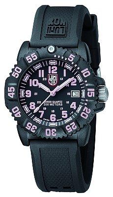 Luminox 7065 38mm Polycarbonate Case Black Rubber Mineral Women's Watch