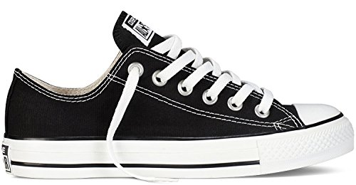 Converse Unisex Mens ChuckTaylor All Star OX Oxford Fashion Sneaker Shoe (6 B(M) US Women / 4 D(M) US Men, Black)